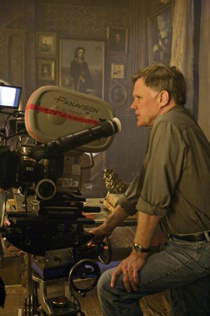 Director Joe Johnston on the set of