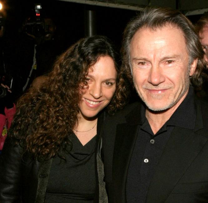 Daphna Kastner and Harvey Keitel at the opening night of