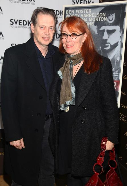Steve Buscemi and Jo Andres at the New York premiere of