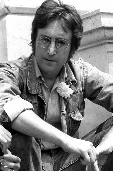 John Lennon in Cannes, 17 May 1971 where he presented his movies