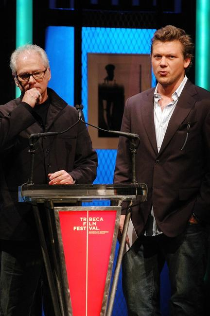Barry Levinson and Tyler Florence present the award for Best Narrative Feature at the Third Annual Tribeca Film Festival Awards.