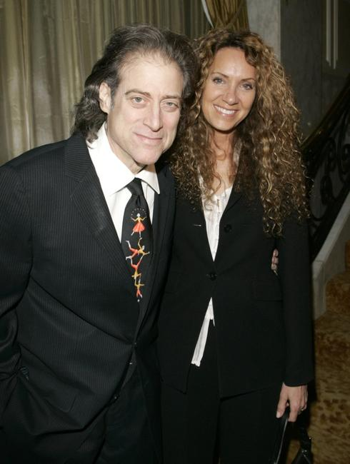 Richard Lewis and his wife Joyce at the Tourette Syndrome Association Champion of Childrens Award.