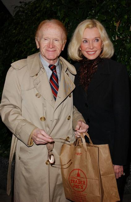 Red Buttons and Jane Wooster Scott at Tony Martin's 90th birthday party.