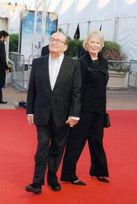 Sidney Lumet and his wife at the 33rd US film festival for the screening of his film
