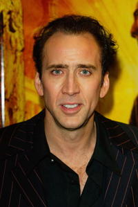 Nicolas Cage at the UK film premiere of
