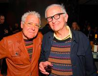 Michael Gold and Albert Maysles at the Academy of Motion Pictures Arts and Sciences.