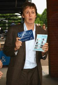 Paul McCartney at the preview for his daughter Mary's photographic exhibition