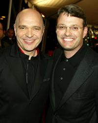 Anthony Minghella and Bob Osher at the premiere of