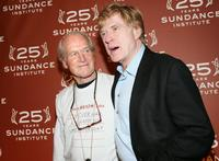 Paul Newman and Robert Redfordr at the Sundance Institute 25th Anniversary Celebration.