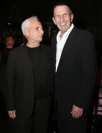 Leonard Nimoy and Frank Gehry at the opening gala for Robert Rauschenberg Exhibition.