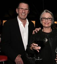 Leonard Nimoy and Susan at the opening gala of MOCAs Robert Rauschenberg Exhibition.