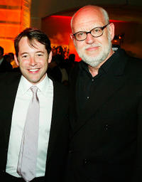 Matthew Broderick and Frank Oz at the after-party of