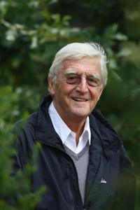 Michael Parkinson at the Child Bereavement Charity Ashes Golf Challenge.