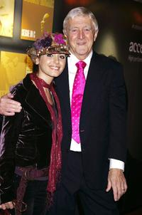 Katie Melua and Michael Parkinson at the Music Industry Trust Awards 2005.