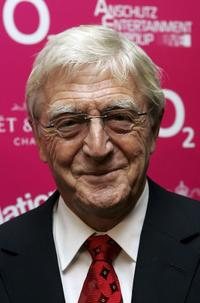 Michael Parkinson at the National Theatre: Fast Forward reception.
