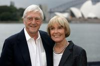 Michael Parkinson and Mary Parkinson at the opening night of the St George OpenAir Cinema.
