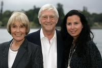 Mary Parkinson, Michael Parkinson and Fiona Fraser at the opening night of the St George OpenAir Cinema.