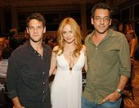 Justin Bartha, Heather Graham and Todd Phillips at the charity poker tournament.