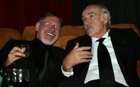 Sean Connery and Harrison Ford at the after party for the 34th afi Life Achievement Award.