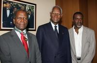 Sidney Poitier, Abdou Diouf and Jacques Martial at the 59th edition of the International Cannes Film Festival.