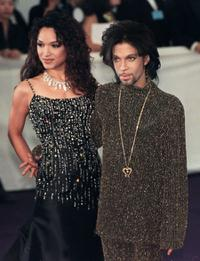 Mayte and Prince at the De Beer and Versace