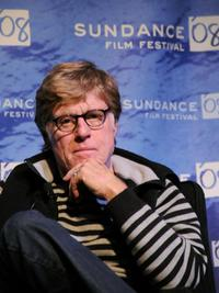 Robert Redford at the 2008 Sundance Film Festival for Opening Day Press Conference.