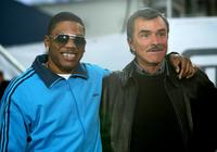 Rapper Nelly and Burt Reynolds at the MTV's Total Request Live.