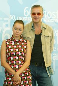 Tim Robbins and Samantha Morton at the 60th Venice Film Festival.