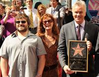 Jack Black, Susan Sarandon and Tim Robbins at the Hollywood Walk of Fame.