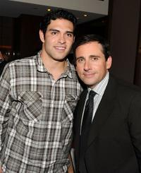 Mark Sanchez and Steve Carell at the New York premiere of