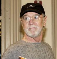 George Carlin at the book signing of