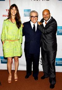 Martin Scorsese, Charlotte Gainsbourg and Emanuele Crialese at the premiere of