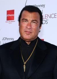 Steven Seagal at the 2008 JCPenney Asian Excellence Awards.