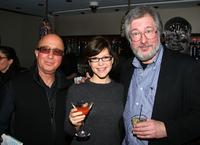 Paul Shaffer, Lisa Loeb and Tom Davis at the Tom Davis' book release party celebration.