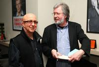 Paul Shaffer and Tom Davis at the Tom Davis' book release party celebration.