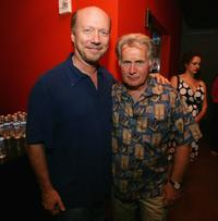 Martin Sheen and Paul Haggis at the after party for the benefit reading of