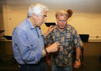 Martin Sheen and director Gordon Davidson at the rehearsal for the benefit reading of