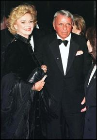 Frank Sinatra and his wife Barbara at the Carousel of Hope benefit.