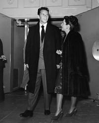 Frank Sinatra and first wife Nancy Barbatto leaving club.