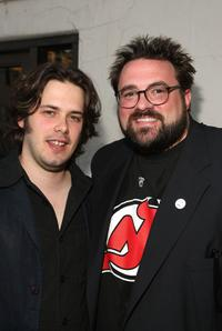 Kevin Smith and Edgar Wright at the opening night of