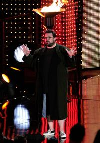 Kevin Smith at the Best Female Superhero award onstage during Spike TVs