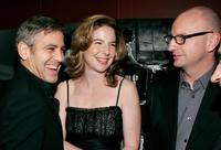Steven Soderbergh, George Clooney and Robin Weigert at the premier of the film