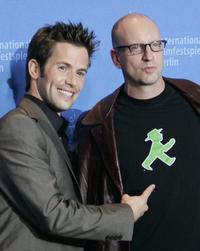 Steven Soderbergh and Christian Oliver at the photocall for the movie
