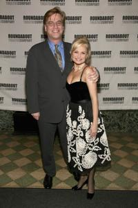 Aaron Sorkin and Kristin Chenoweth at the opening of