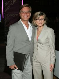 Aaron Sorkin and Ashley Banfield at the screening of