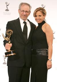 Steven Spielberg and Katie Couric at the 34th International Emmy Awards.
