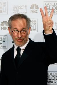 Steven Spielberg at the 64th Annual Golden Globe Awards for