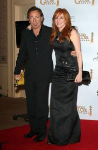 Bruce Springsteen and Patti Scialfa at the 66th Annual Golden Globe Awards.