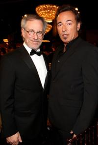 Steven Spielberg and Bruce Springsteen at the 66th Annual Golden Globe Awards.