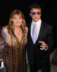Nancy Rowe and Sylvester Stallone at the 39th Annual Key Art Awards.
